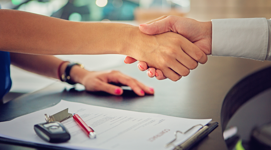 Handshake at Loan Signing