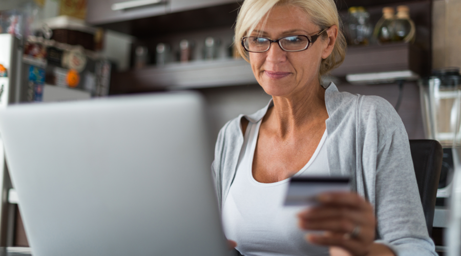 Mature female checking account online